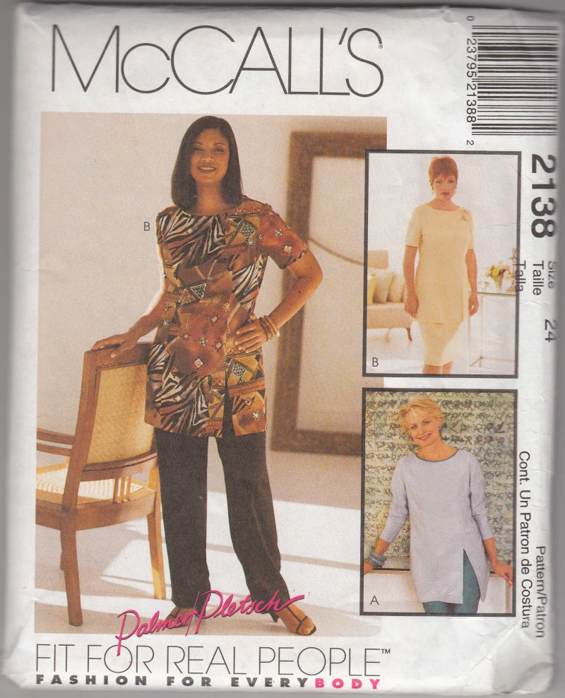 McCall's woman's patterns 2138 tunic pants skirt Sizes 10-24 U choose
