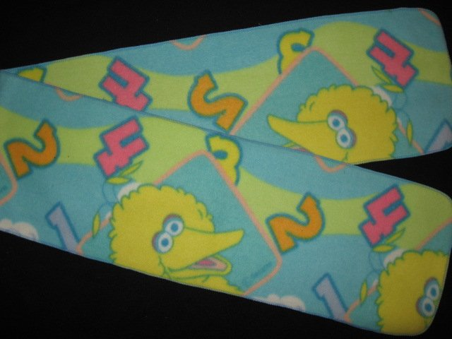 Sesame Street Big Bird child  blue fleece scarf