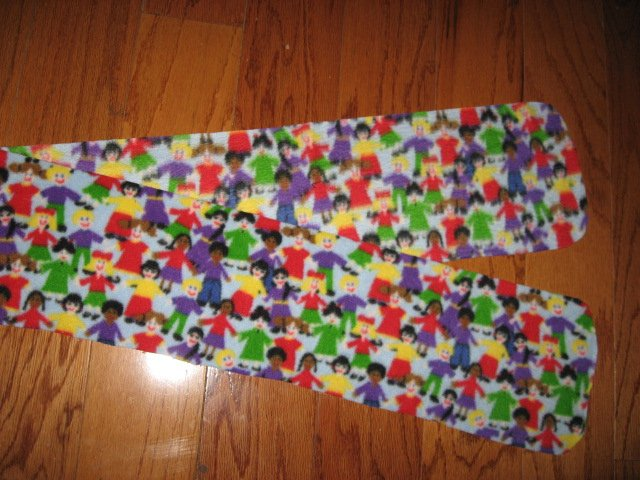 Children holding hands Autism child fleece scarf