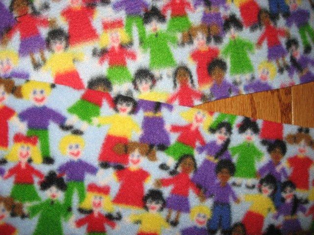 Image 1 of Children holding hands Autism child fleece scarf