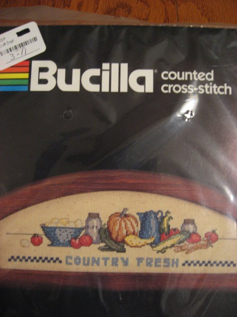 Image 0 of Bucilla Country Fresh Counted Cross stitch Kit 4 1/2