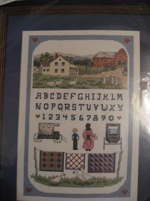 Image 0 of Bucilla Amish Farm Counted Cross stitch Kit 10