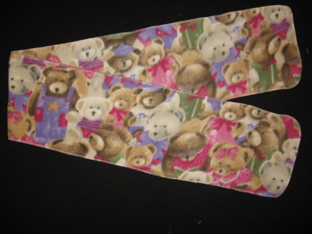 Packed dressed teddy bears child fleece scarf