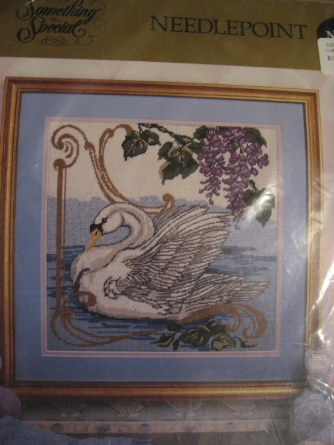 Image 0 of Candamar Designs Swan Needlepoint Kit no frame 14