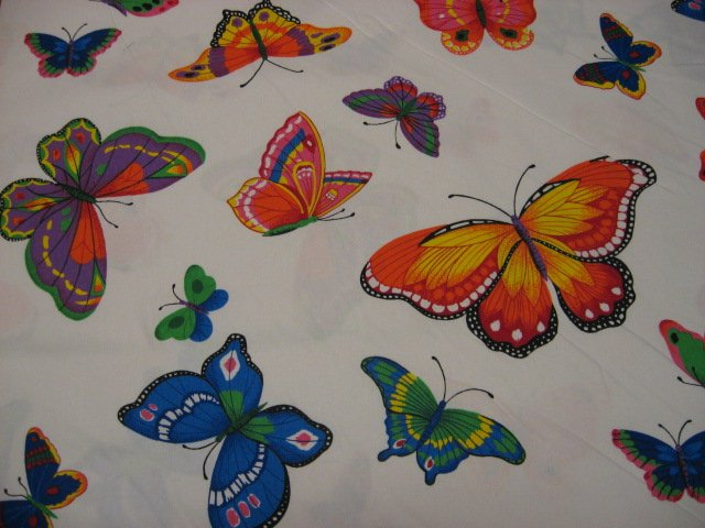 Butterfly applique soft sewing cotton Fabric By The Yard