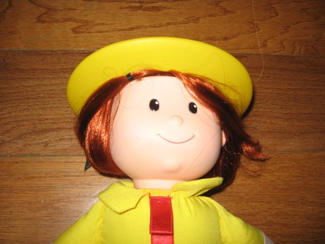 Image 4 of Madeline talking Doll Yellow dress hat blue coat Great Condition