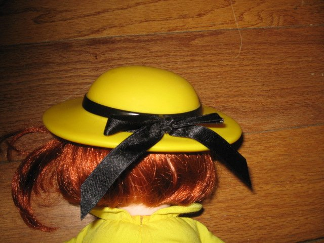 Image 5 of Madeline talking Doll Yellow dress hat blue coat Great Condition