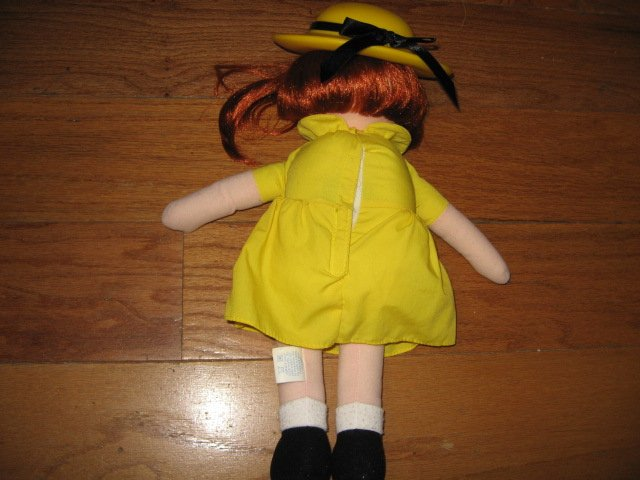 Image 6 of Madeline talking Doll Yellow dress hat blue coat Great Condition
