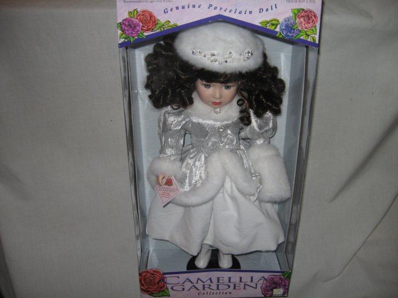 Camellia Garden Holiday collector Porcelian Doll  by Tracy Lynn