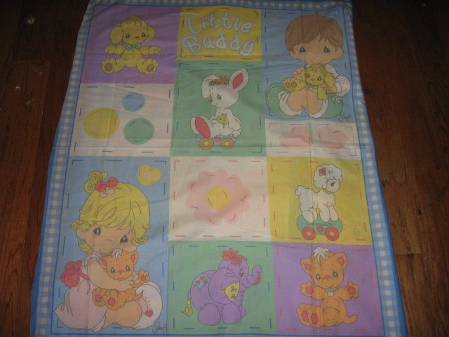 Buddy Boy and girl Precious Moments Vintage Fabric Panel to sew