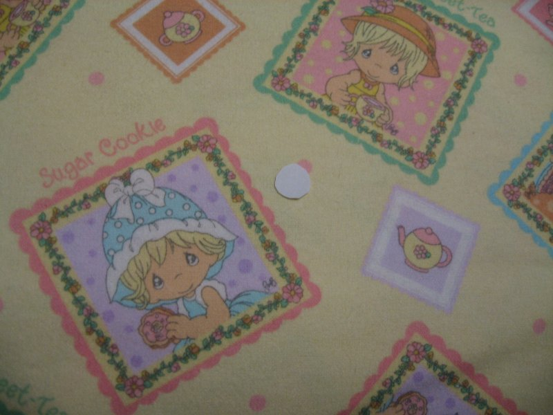 Girl with hat Precious Moments Handmade Flannel Baby Receiving Blanket