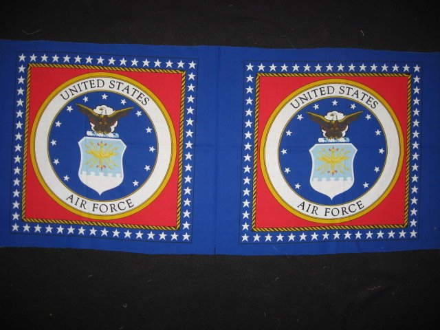 Image 0 of United States Air Force Fabric two pillow panels to sew about 1/2 yard
