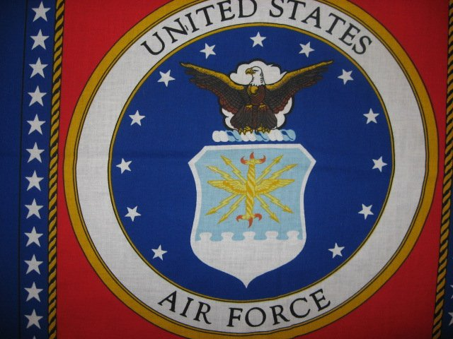 Image 1 of United States Air Force Fabric two pillow panels to sew about 1/2 yard