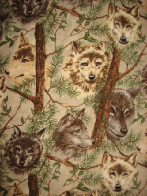 Wolves in the forest Antipill 60X 72 Long Fleece bed Blanket