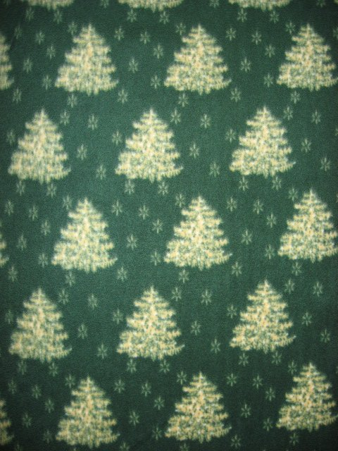 Christmas Pine Trees Winter Green 60W 72 Long Fleece bed Blanket