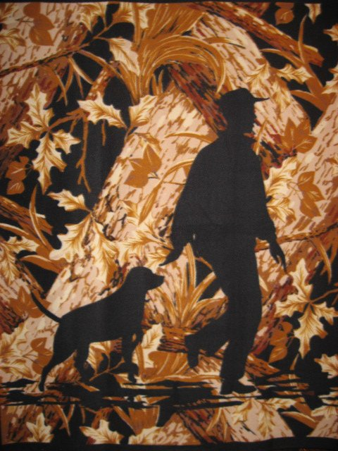Labrador Retriever hunting dog Fleece Blanket Throw Panel with finished edges
