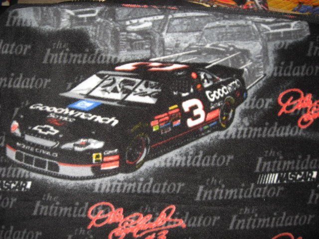 Dale Earnhardt #3 Intimidator Race Car Fleece Blanket for Fathers Day gift