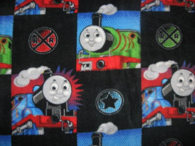 Thomas the Train tank Engine Black Child bed size Fleece Blanket 45 X 59