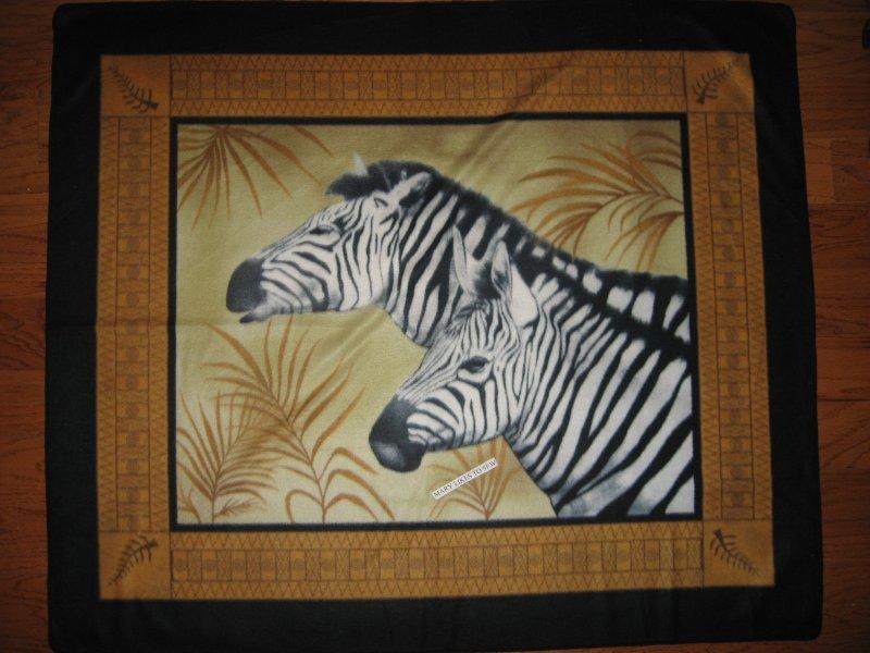 Zebra Wild Animal Fleece Blanket