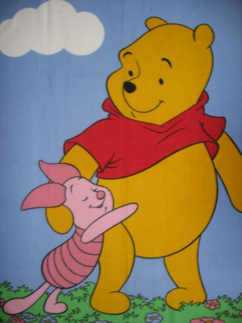 Image 0 of Winnie the Pooh and Piglet Child bed or crib Fleece Blanket /