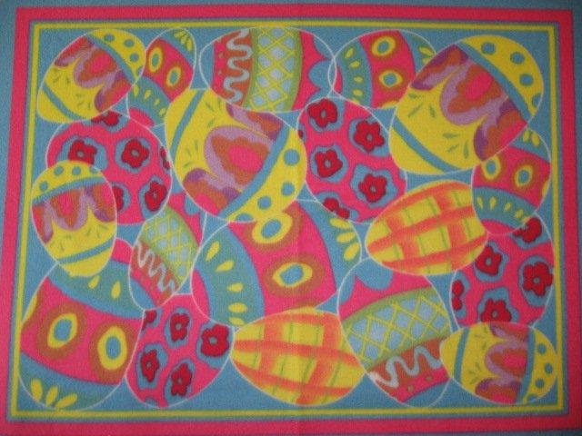 Image 1 of Easter Egg fleece blanket