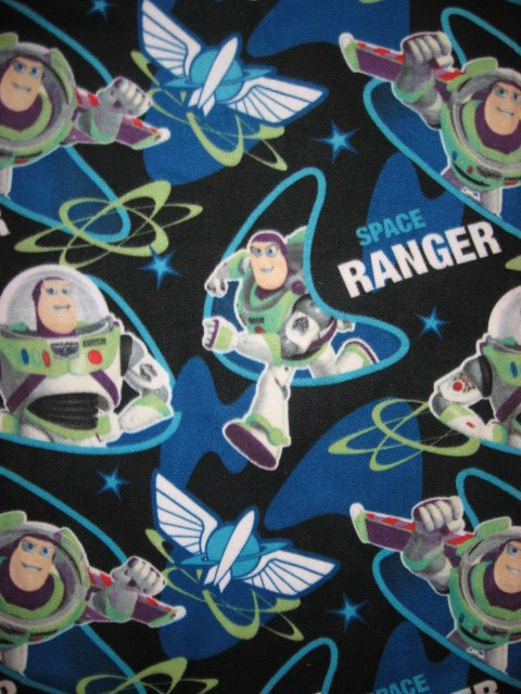 Image 0 of Disney Buzz Lightyear Toy Story Fleece Bed Blanket 46
