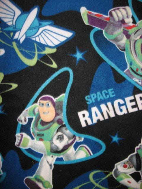 Image 1 of Disney Buzz Lightyear Toy Story Fleece Bed Blanket 46