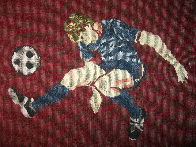 Soccer Ball Player Game Sport Goal Tapestry panel to sew