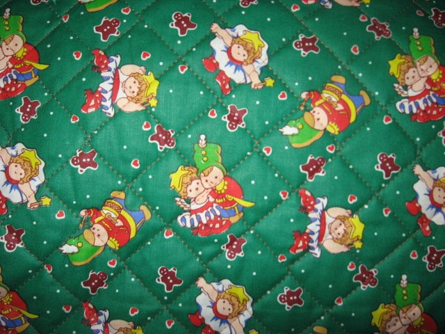 Ballerina Soldier and Gingerbread double sided  quilted Christmas Fabric RARE