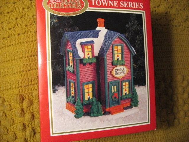 Dickens Town Series Lighted Candle Shoppe used in box