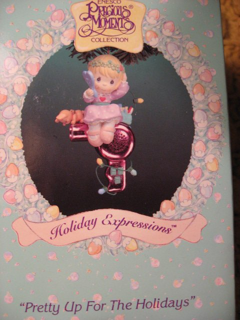 Image 0 of Christmas Holiday Pretty Girl Precious Moments  Ornament New in box