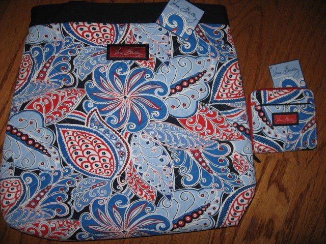 Vera Bradley Seaside Nautical Port Tote and Wallet New with tags
