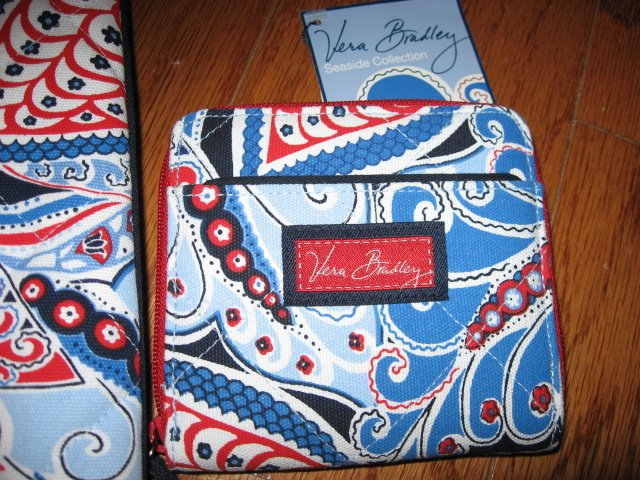 Image 2 of Vera Bradley Seaside Nautical Port Tote and Wallet New with tags