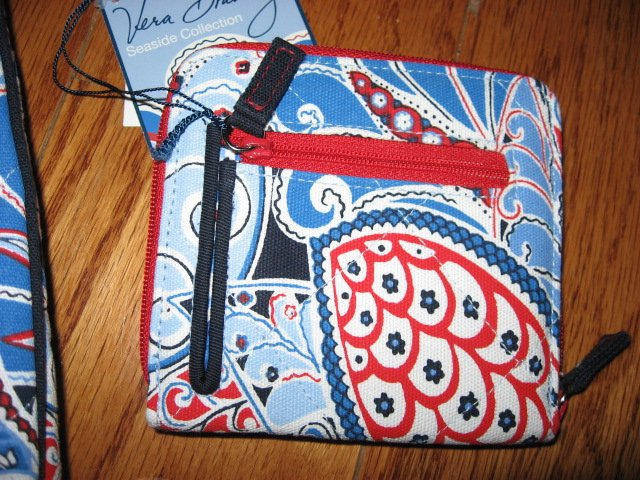 Image 4 of Vera Bradley Seaside Nautical Port Tote and Wallet New with tags