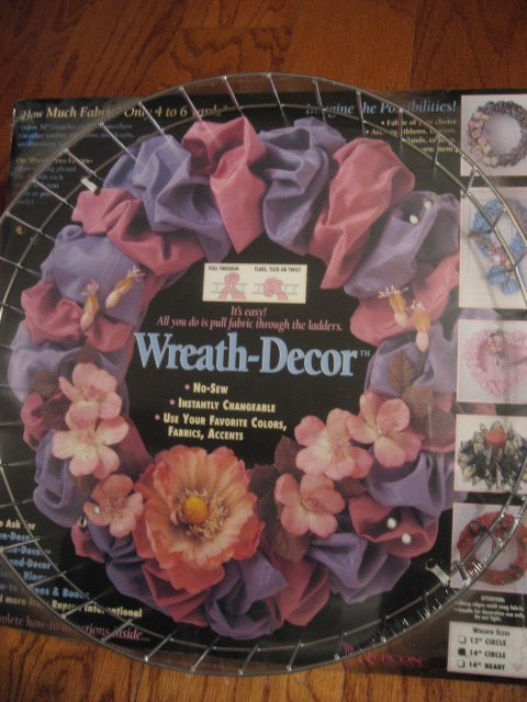 Metal decor wreath 14 circle No Sew Kit U add fabric strips