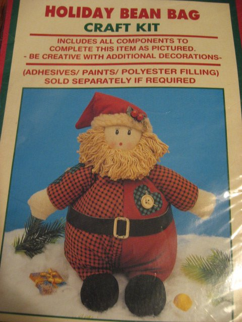 Image 0 of Santa Christmas Holiday Bean Bag Craft Kit Homespun Creations New