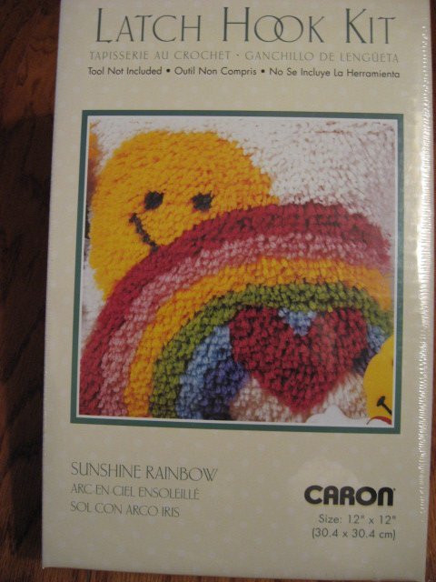 Sunshine Rainbow Smile Caron Latch Hook Kit Retro Look