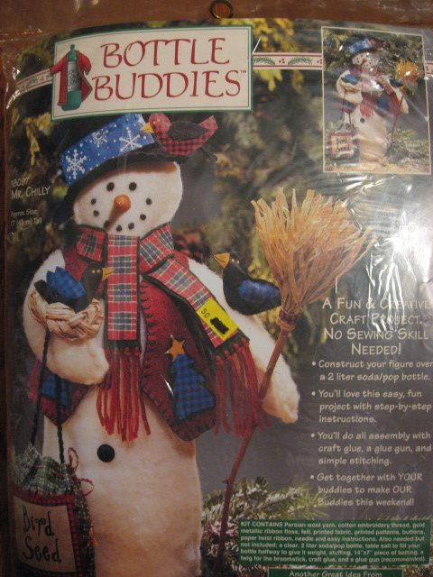 Image 0 of Dimensions Mr Chilly Snowman Bottle Buddies No Sew kit