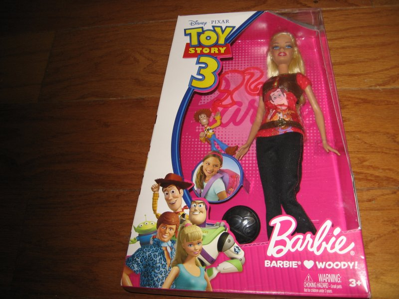 Image 0 of Barbie doll Loves Woody New in Box Disney Pixar Toy Story 3