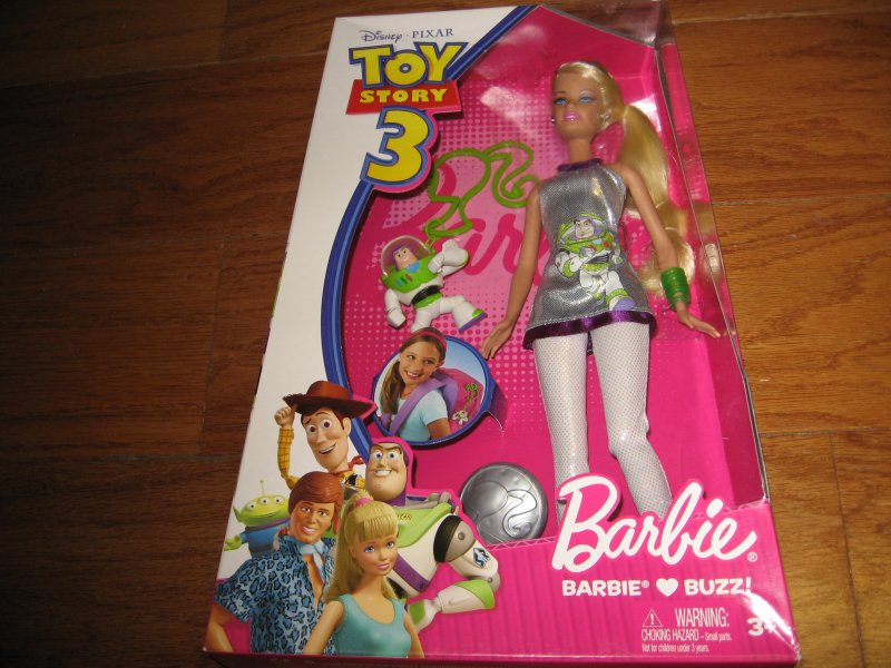 Barbie doll Loves Buzz Disney Pixar Toy Story 3 new in Box/