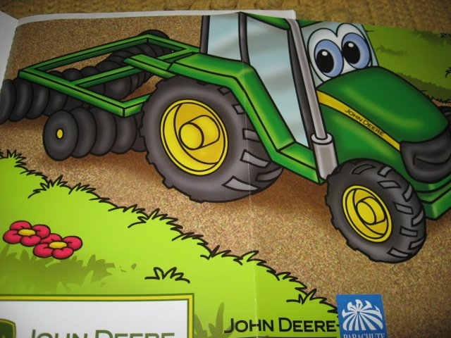 Image 7 of John Deere Activity Coloring Book Stickers Poster Chart with Crayons /
