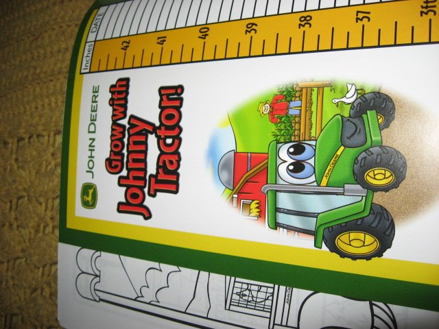 Image 3 of John Deere Activity Coloring Book Stickers Poster Chart with Crayons /