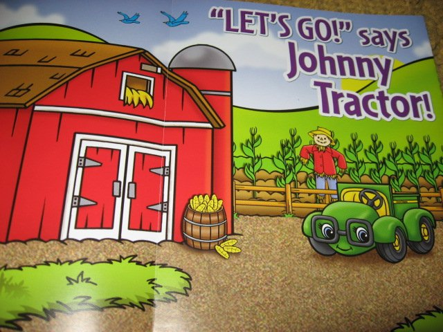 Image 6 of John Deere Activity Coloring Book Stickers Poster Chart with Crayons /