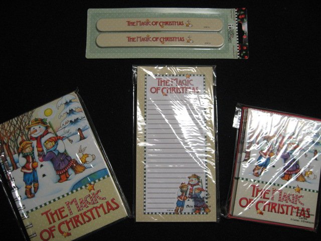 Mary Engelbreit Christmas  Snowman magnetic List pad Note Cards and notebook