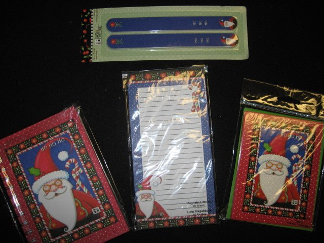 Santa magnetic List pad Note Cards and Noteboo kMary Engelbreit Christmas