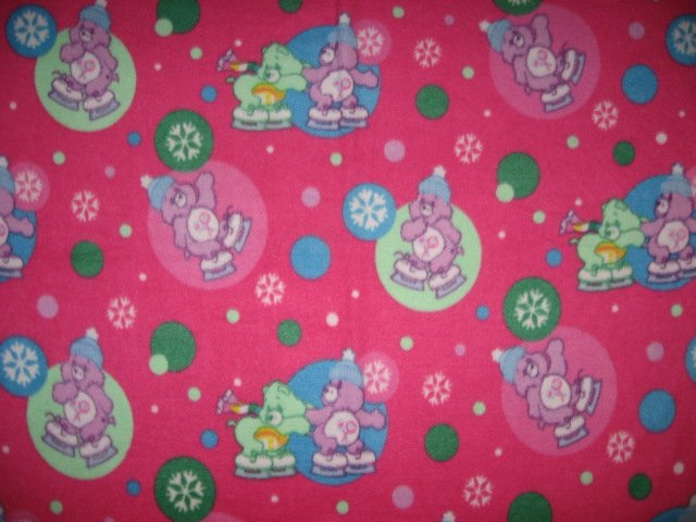 Care Bears and skates raspberry child fleece bed blanket 60 X45