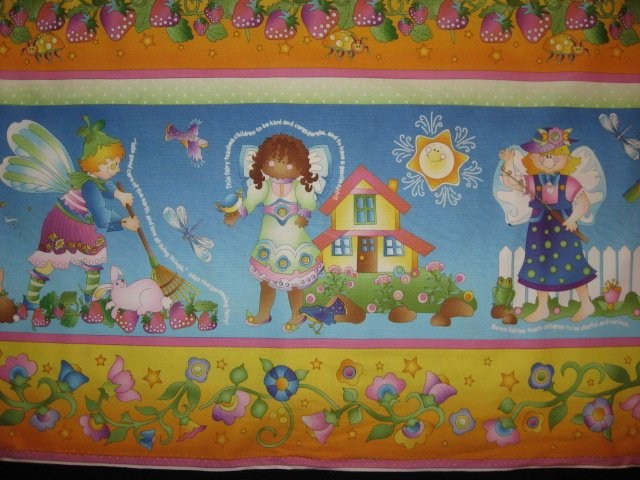 Image 0 of Fairy Angels Avlyn cotton sewing fabric by the yard