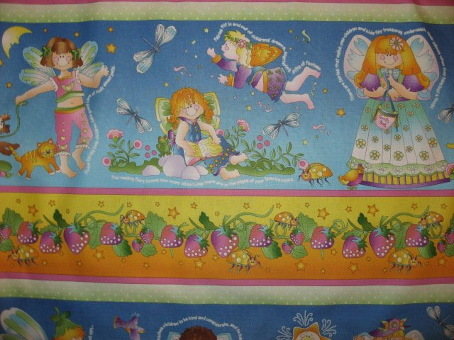 Image 2 of Fairy Angels Avlyn cotton sewing fabric by the yard