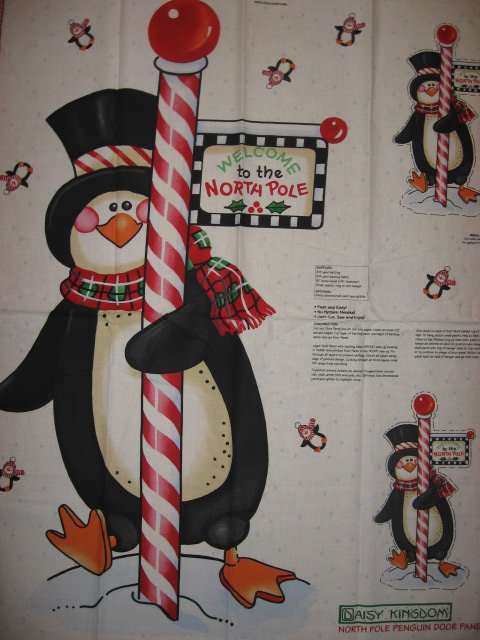 Image 0 of Daisy Kingdom Penguin Christmas Fabric Door Panel to Sew