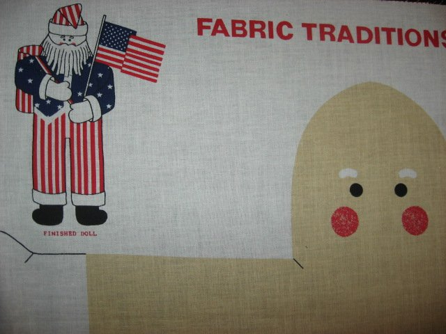 Liberty Santa Christmas 21 Doll Fabric Panel to sew